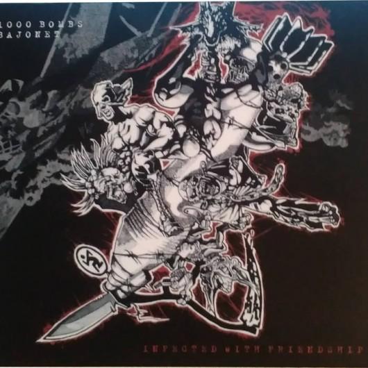 1000 BOMBS / BAJONET - split CD