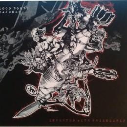 1000 BOMBS / BAJONET - split LP