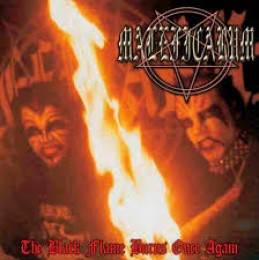 MALEFICARUM / JEZABEL ‎– The Black Flame Burns Once Again / Blasphemous Nightfall LP