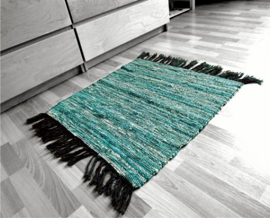 ATELIER MORANA - Tyrkysový kobereček - předložka